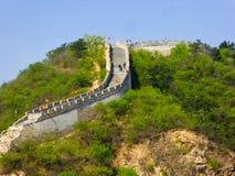 Avsnitt för stor vägg för Huanghuacheng Lakeside royaltyfri bild