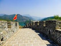 Avsnitt för stor vägg för Huanghuacheng Lakeside royaltyfri foto