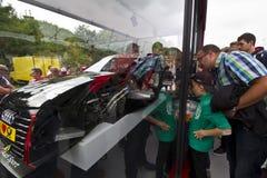 Avsnitt om en Audi Sport bil Arkivfoto