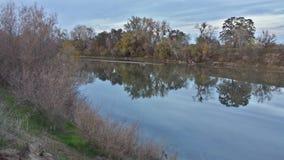 Avspegla floden Fotografering för Bildbyråer