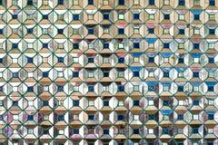 Avspegla mosaiktegelplattor, fyrkantig PIXELbakgrund för abstrakt begrepp Royaltyfri Fotografi