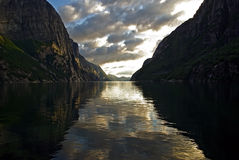 Lysefjord i norway Royaltyfria Foton