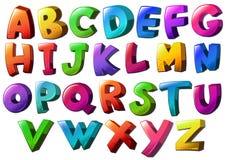 avstånd för alfabetkopieringsbokstäver Royaltyfri Fotografi