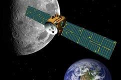 avstånd för kommunikationskommunikationssatellit Royaltyfri Foto
