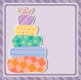 avstånd för kopia för födelsedagcakekort stock illustrationer