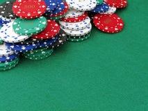 avstånd för poker för chipkopieringslott Arkivfoto