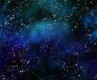 avstånd för sky för djup natt Arkivbilder