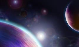 avståndsviolet Arkivbild