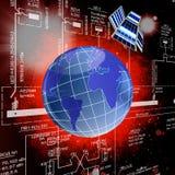 avståndsteknologier för planläggande teknik Arkivbild