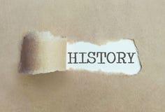 Avtäckning av historiebegrepp royaltyfri foto