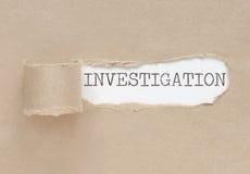 Avtäckt utredning Arkivbild