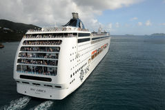 avtågande öship för karibisk kryssning Royaltyfria Foton