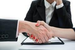 Avtal affärshandskakning Royaltyfri Bild