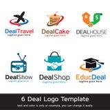 Avtal Logo Template Design Vector Royaltyfri Illustrationer