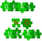 Avtal och inget avtalspussel royaltyfri illustrationer