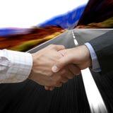 avtalet fast Arkivbild