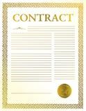avtalsförlaga Royaltyfri Fotografi
