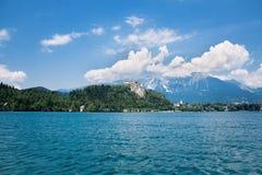 avtappad lake Arkivbild