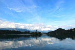 avtappad lake Arkivfoton