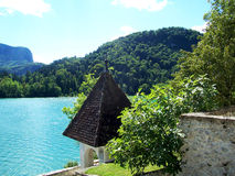 avtappad lake Arkivbilder