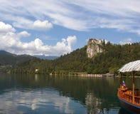 avtappad lake slovenia Royaltyfri Fotografi
