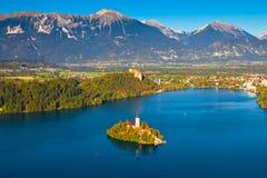avtappad lake slovenia Arkivfoton