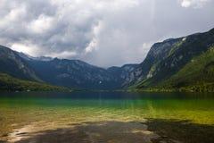 avtappad lake slovenia Royaltyfri Foto