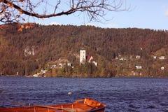avtappad lake slovenia Arkivfoto