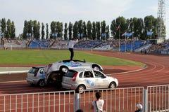 Avtorodeo. Το τέχνασμα για τα αυτοκίνητα LADA Granta και Kalina Στοκ εικόνα με δικαίωμα ελεύθερης χρήσης
