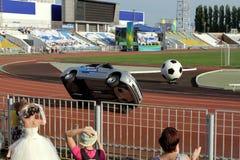 Avtorodeo. Το τέχνασμα για τα αυτοκίνητα LADA Granta AvtoVAZ Στοκ Εικόνες