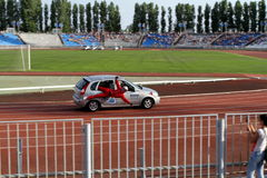 Avtorodeo. Το τέχνασμα για τα αυτοκίνητα LADA Kalina Στοκ Φωτογραφίες