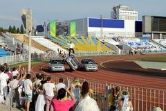 Avtorodeo. Το τέχνασμα για τα αυτοκίνητα LADA Kalina AvtoVAZ Στοκ Φωτογραφίες