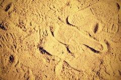 Avtryck i sand Royaltyfria Foton