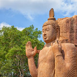 Avukana菩萨石头雕象  斯里兰卡, Kekirawa 库存照片