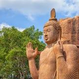 Avukana kamienia statua Buddha Sri Lanka, Kekirawa Zdjęcia Stock