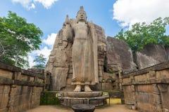 Avukana Standing Buddha Statue Royalty Free Stock Photography