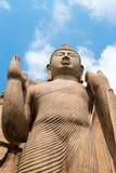 Avukana Standing Buddha Statue, Sri Lanka. Royalty Free Stock Photos