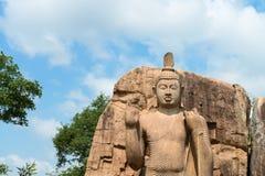 Avukana standing Buddha statue, Sri Lanka. Royalty Free Stock Image