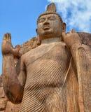 Avukana statua jest trwanie statuą Buddha Sri Lanka, Kekirawa Obraz Stock