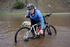 Avventura Biking della montagna Fotografia Stock Libera da Diritti