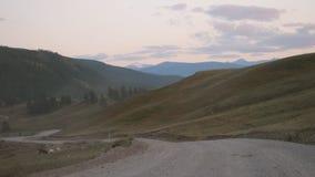 Avventura che fa un'escursione il fondo di turbine rivelante di bellezza della natura di estate della valle della strada del paes Fotografia Stock