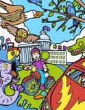 Avventura del bambino: Giro della bici Immagine Stock Libera da Diritti