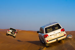 avventura del deserto 4x4, Dubai Fotografia Stock