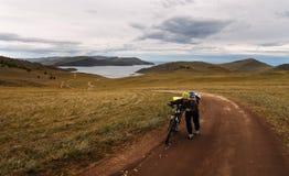 Avventura della bici Fotografia Stock Libera da Diritti