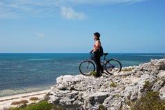 Avventura della bicicletta Fotografia Stock