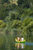 Avventura della canoa Immagine Stock