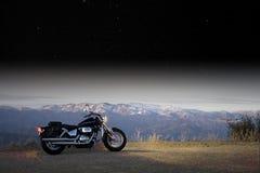 Avventura della motocicletta Immagine Stock