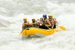 Avventura di rafting del fiume di Whitewater Fotografia Stock