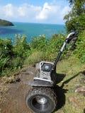 Avventura di Segway nello St Lucia nei Caraibi fotografie stock libere da diritti