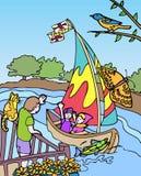 Avventure del bambino: Chiamata a Maryland Fotografia Stock